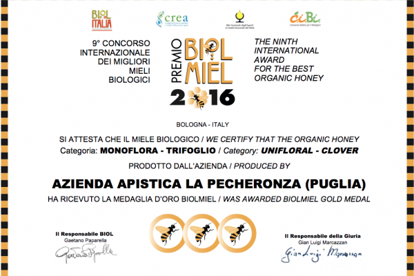 Miele di Trifoglio - Premio Biolmiel