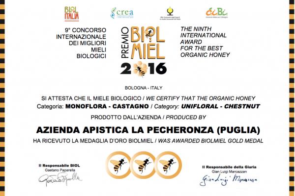 Miele di Castagno - Premio Biolmiel