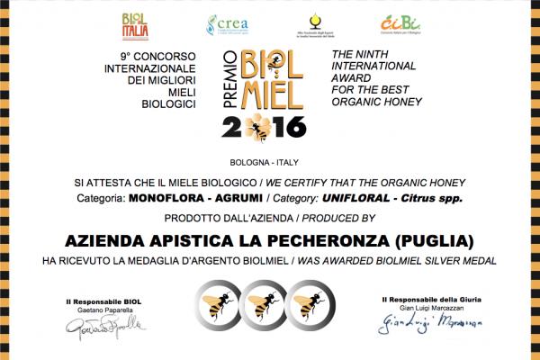 Miele di Agrumi - Premio Biolmiel