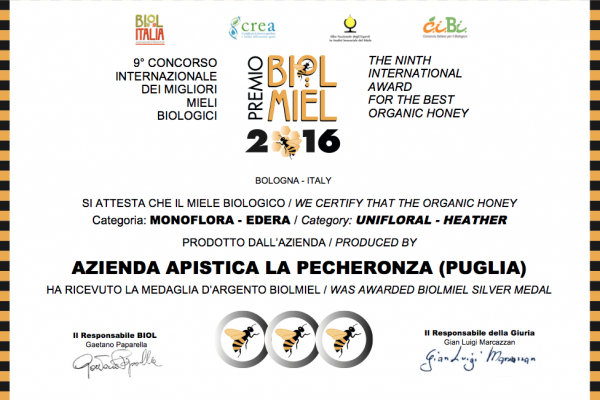 Miele di Edera - Premio Biolmiel