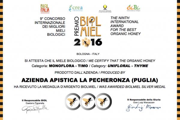 Miele di Timo - Premio Biolmiel